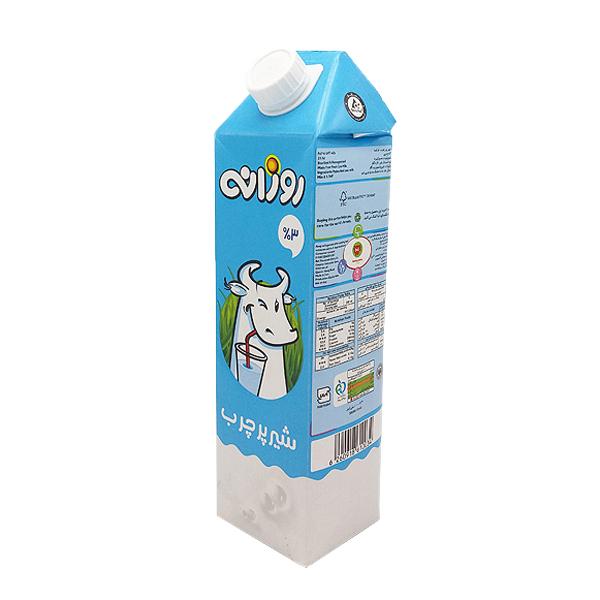 شیر پرچرب روزانه 3% چربی 1 لیتری