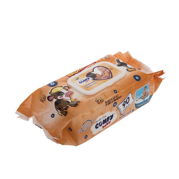 دستمال مرطوب کودک کانفی بیبی – بسته ۹۰ عددی