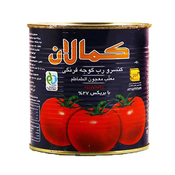 رب گوجه فرنگی 800 گرمی کمالان