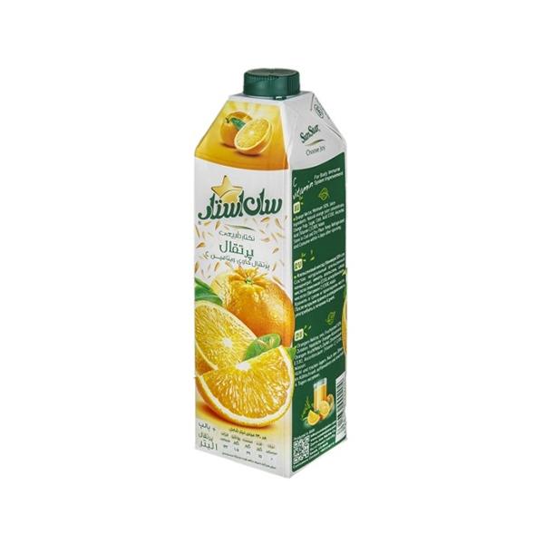 آبمیوه طبیعی (نکتار) 1 لیتری پرتقال سان استار