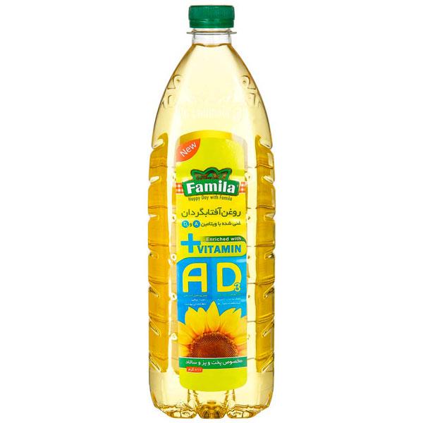 روغن آفتابگردان فامیلا غنی شده با ویتامین E,D (۱۳۵۰ گرمی)
