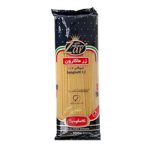 ماکارونی رشته ای (اسپاگتی) قطر 1.2 زر ماکارون (700 گرمی)