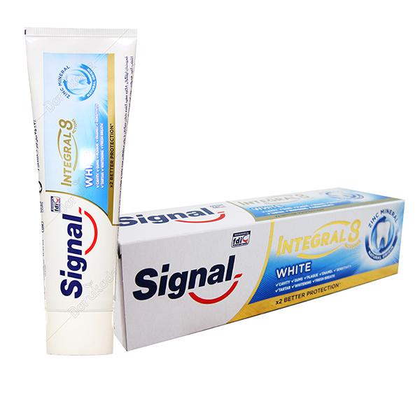 خمیر دندان 8 کاره اینتگرال سفیدکننده White سیگنال ۷۵ میلی لیتری