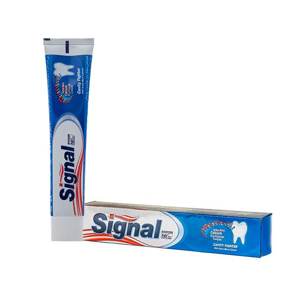 خمیر دندان سیگنال سری Cavity Fighter مدل Active Micro-Calcium حجم ۵۰ میلی لیتر