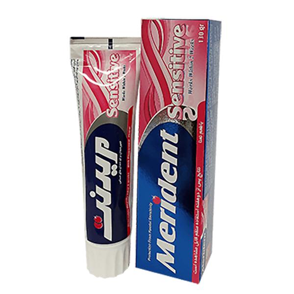 خمیر دندان برای دندان های حساس مدل SenSitive مریدنت (130 گرم)