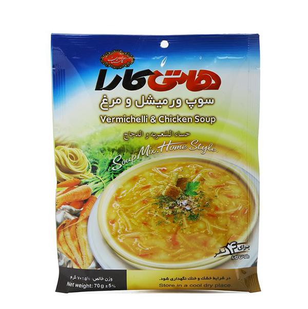 سوپ ورمیشل و مرغ هاتی کارا گلستان