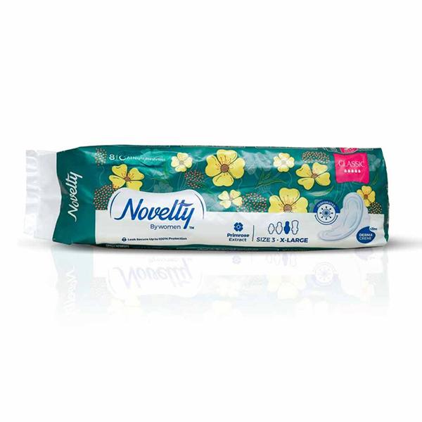 نوار بهداشتی ضد حساسیت ناولتی با عصاره بنفشه (بزرگ سایز۳)