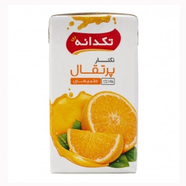 آبمیوه نکتار پرتقال تکدانه 125 میلی لیتر