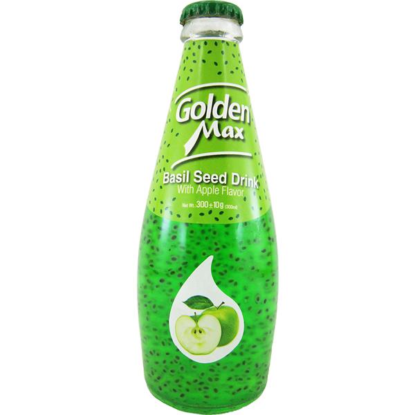 نوشیدنی تخم شربتی طعم سیب گلدن مکس (بدون گاز)