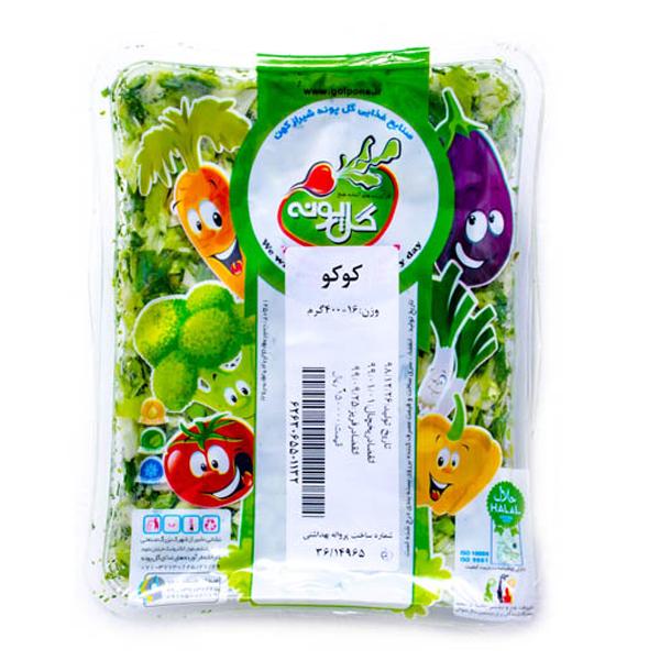 سبزی کوکویی منجمد گلپونه 400گرمی