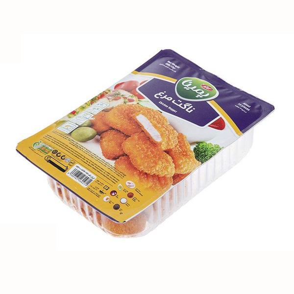 ناگت مرغ 70% گوشت مرغ پمینا کاله 300 گرمی