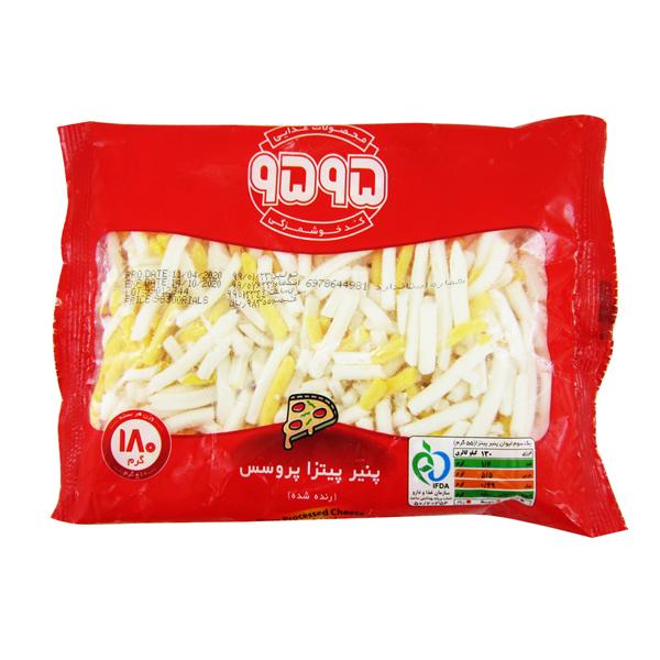 پنیر پیتزا پروسس رنده شده (منجمد) 9595 بسته 180 گرمی