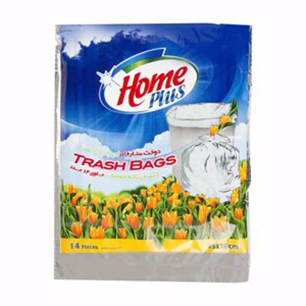 کیسه زباله هوم پلاس متوسط (14 عددی)