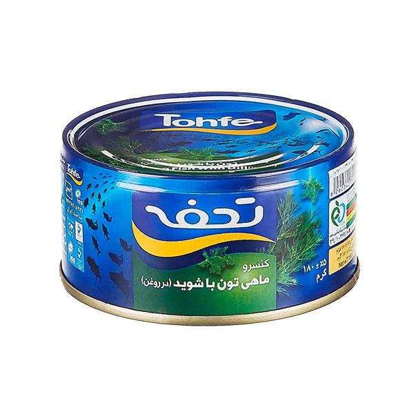 کنسرو تن ماهی با شوید در روغن تحفه 180 گرمی