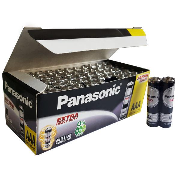 باتری نیم قلمی پاناسونیک مدل extra heavy duty بسته دو عددی