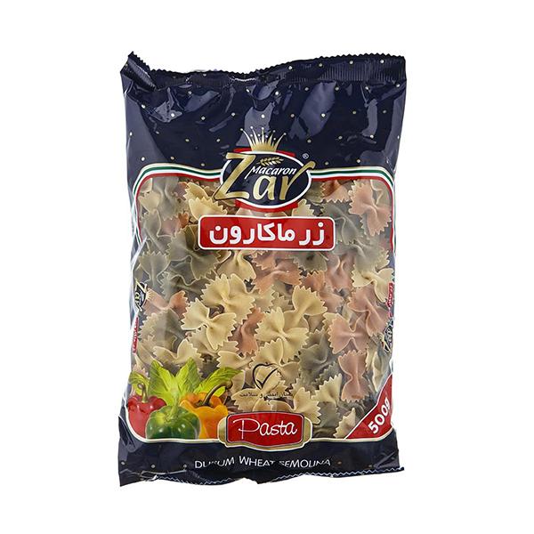 ماکارونی فرمی پروانه ای سبزیجات زر ماکارون (500 گرم)