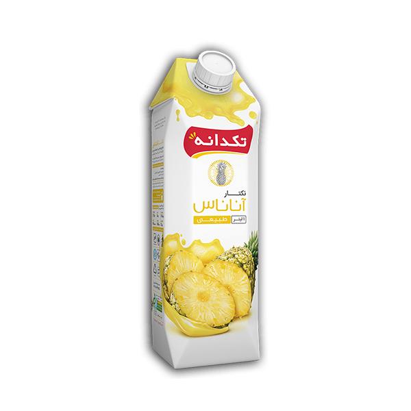 آبمیوه طبیعی (نکتار) آناناس تکدانه یک لیتری