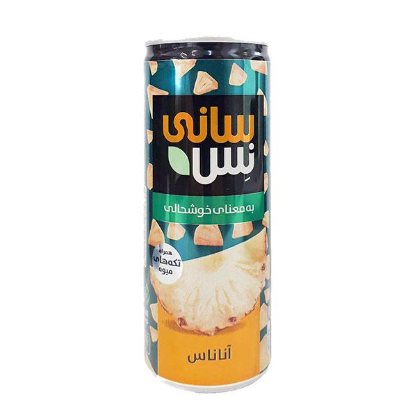 رانی (نوشیدنی بدون گاز) آناناس همراه با تکه های میوه سانی نس (240 میلی لیتر)
