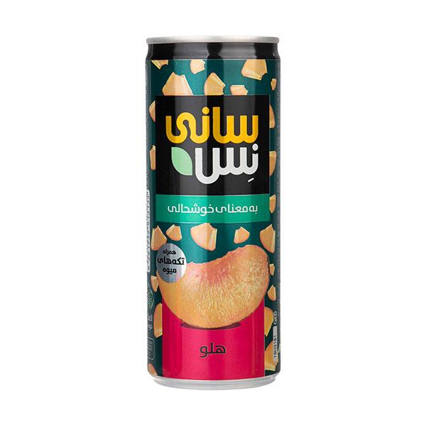 رانی (نوشیدنی بدون گاز) هلو همراه با تکه های میوه سانی نس (240 میلی لیتر)