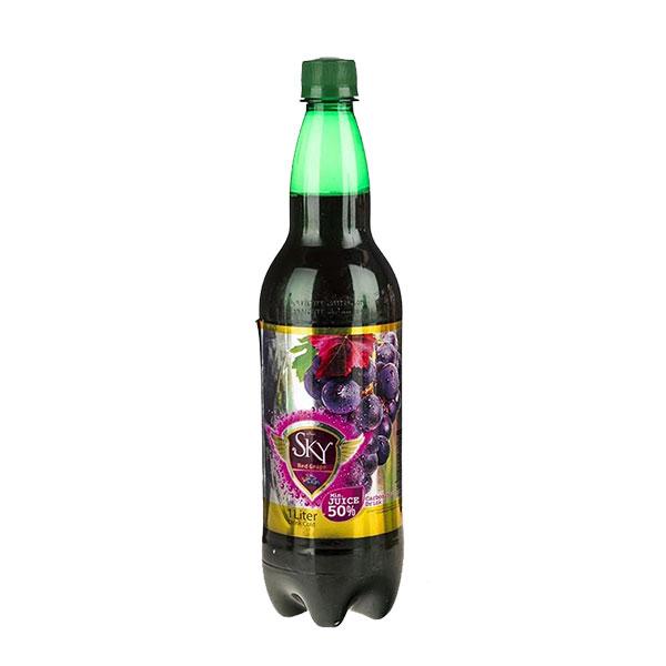 نوشیدنی گازدار (دلستر) با طعم انگور قرمز اسکای شیرین عسل 1 لیتری