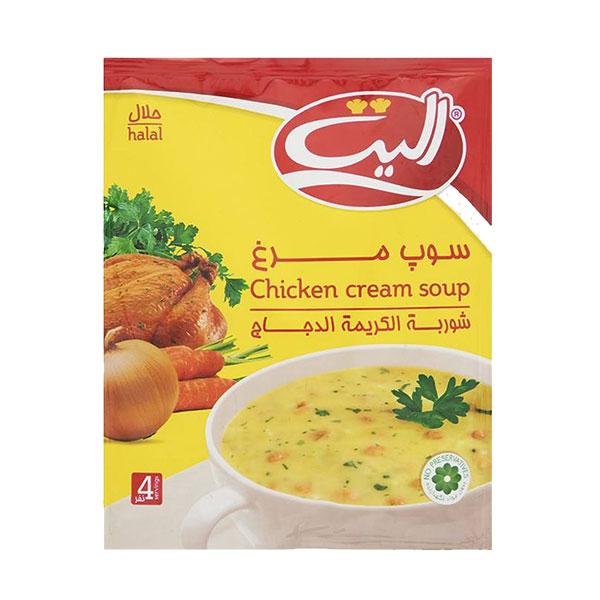 سوپ نیمه آماده مرغ الیت مقدار 61 گرم (4 نفره)