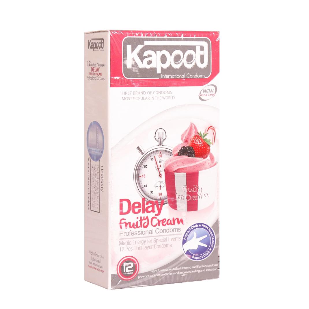 کاندوم تاخیری کاپوت مدل Delay Fruity Cream بسته 12 عددی