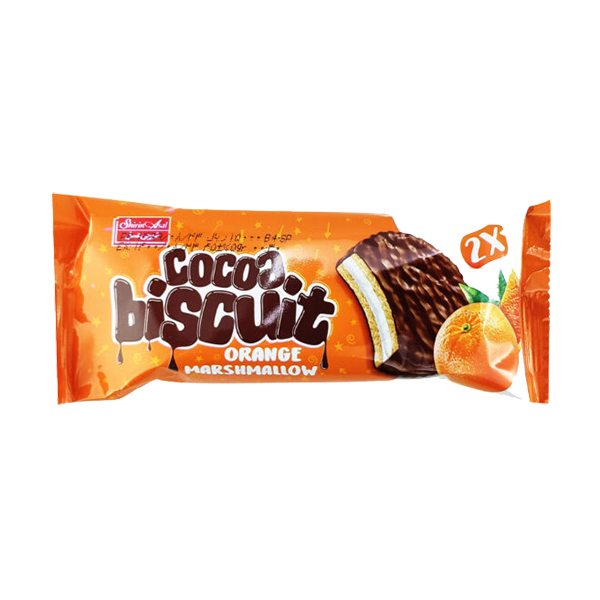 والس شکلاتی دوقلو مغزدار با طعم پرتقال شیرین عسل 45 گرم