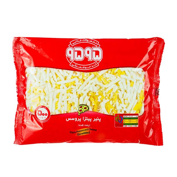 پنیر پیتزا پروسس رنده شده (منجمد) 9595 بسته 500 گرمی