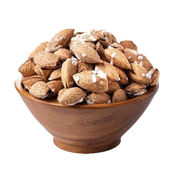 بادام منقا (بادام درختی با پوست) شور فله مقدار 250 گرم