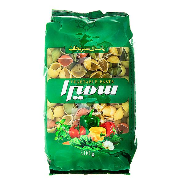 ماکارونی فرمی صدفی سمیرا با طعم سبزیجات (500 گرم)