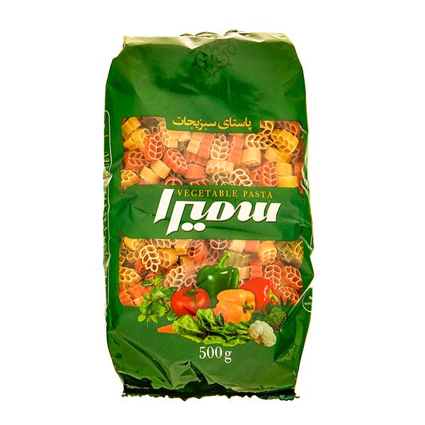 ماکارونی فرمی گندمی سمیرا با طعم سبزیجات (500 گرم)