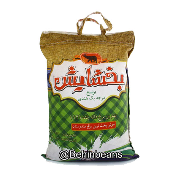 برنج بخشایش هندی درجه یک دانه بلند 1121 (کیسه 10 کیلوگرم)