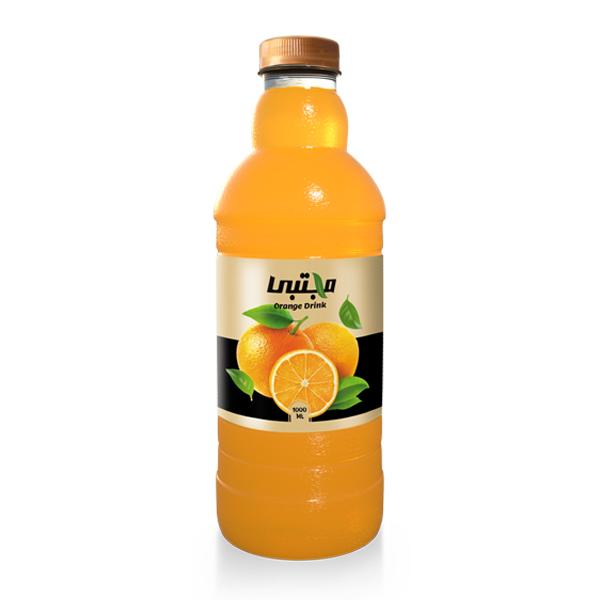آبمیوه (نوشیدنی بدون گاز) پرتقال مجتبی (1 لیتری)