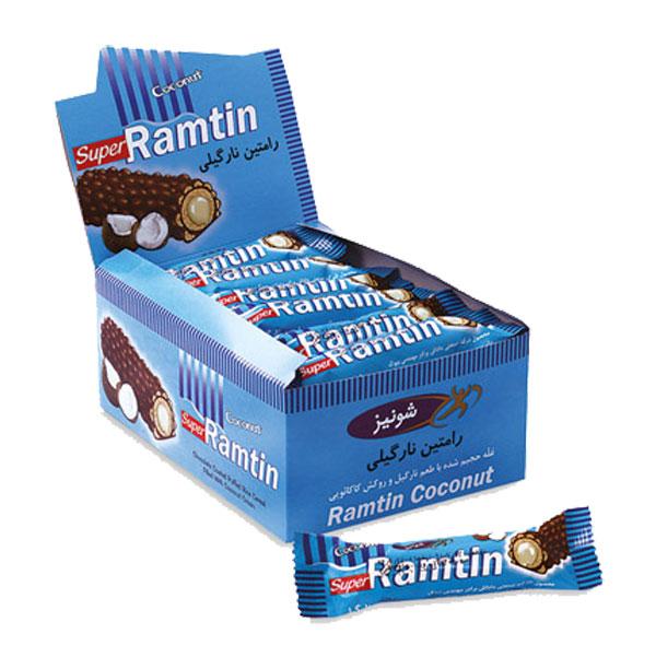 شکلات رامتین نارگیلی (بسته 24 عددی)