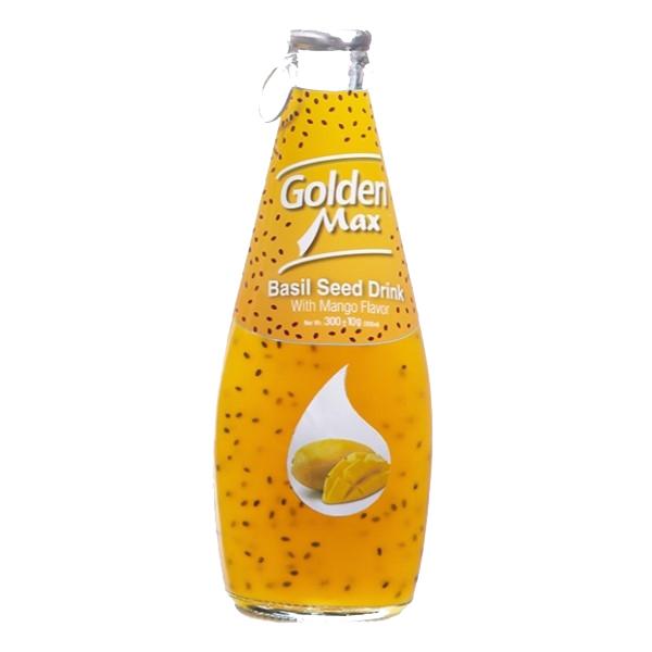 نوشیدنی تخم شربتی طعم انبه گلدن مکس (بدون گاز)
